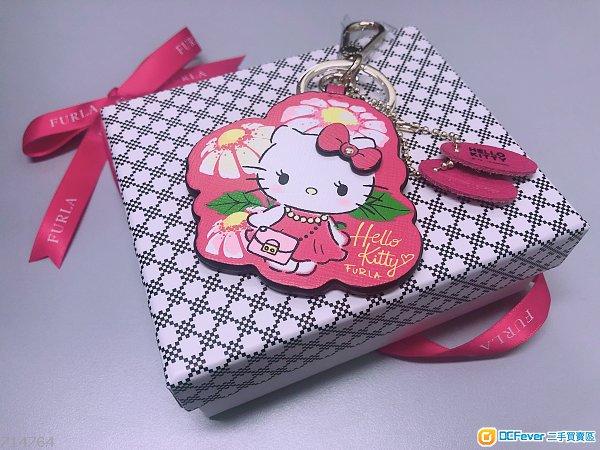 全新Furla Hello Kitty2018真皮keychain