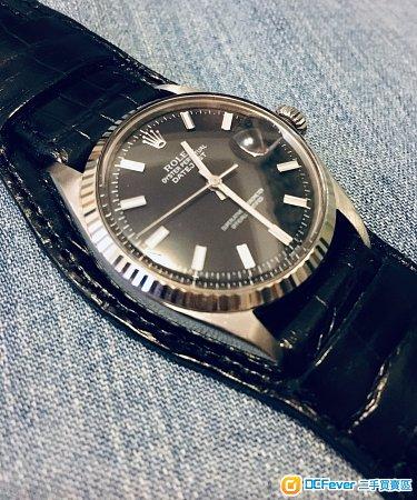 Rolex 1601 勞力士 Wide Boy  靚黑面,有出世紙 not Omega Grand Seiko