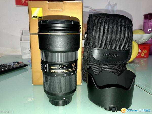 Nikon AF-S NIKKOR 24-70mm f/2.8E ED VR 行貨95%新 長保養
