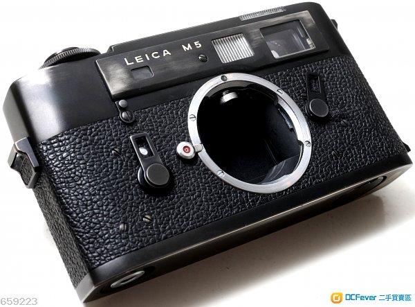Leica M5 高性能M系全機械旁軸機皇,自然舊黑漆,皮革完好,TTL測光準確,黃斑光亮易對焦,操作零暇疵