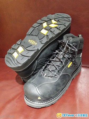 美國KEEN 黑色真皮 透氣防水安全靴(歐碼42)