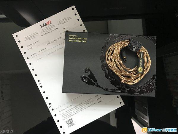 升級線PlusSound Exo GPC (金銅混合線) CM- 2.5mm頭,4 wire, 99.99%New(有保到2019年11月)