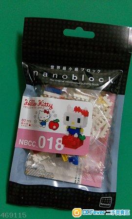 全新 Nano block Hello kitty apple  生日 送禮 擺設 NBCC 018 Nanoblock