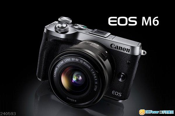Canon EOS M6 銀色 + EF-M 15-45mm Kit