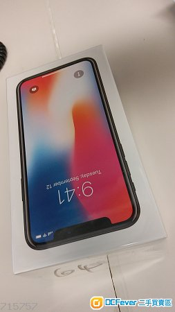 100% NEW (未開封) Iphone X 64G Grey