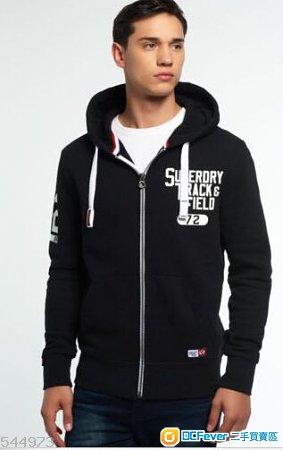 Superdry Trackster Zip Hoodie Black Size M
