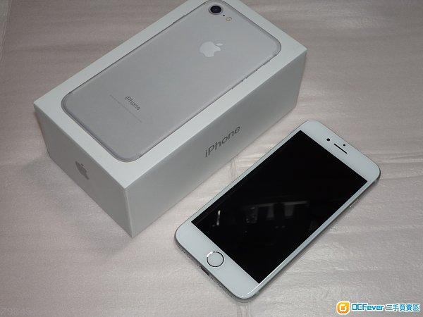 非常新淨無花崩 iPhone 7 細機,128GB,銀色,港行ZP 功能正常,電池極好 跟原廠火牛及線 有耳機,玻璃貼,機套,盒 1個月保養
