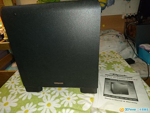 美國杰士Klipsch 8寸有源超低音(外表殘舊平放)