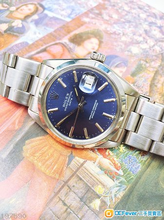 Rolex 1500 少有放射藍面 全原裝 淨錶(not tudor, omega,panerai,Seiko,iwc )