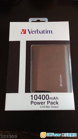 全新 Verbatim 黑色 10400mAh 2.5A Max Output Power Pack 行動電源 外置充電器