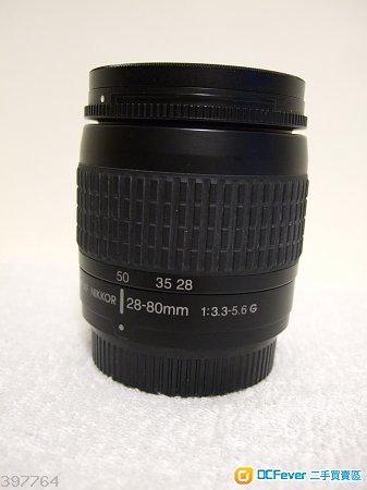 Nikon AF 28-80mm f3.3-5.6G 90% New (黑色版)