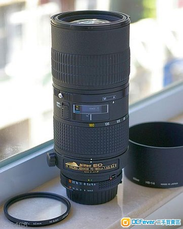 Nikon AF micro nikkor 70-180mm 1:4.5-5.6 D 連HB-14 自動微距變焦鏡