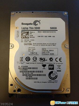 Seagate 500gb + 8gb sshd
