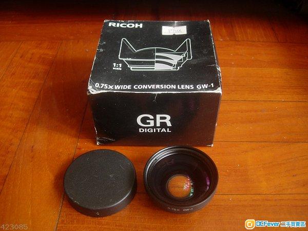 Ricoh GR GW-1 ( 0.75 X Wide Conversion lens ) with box