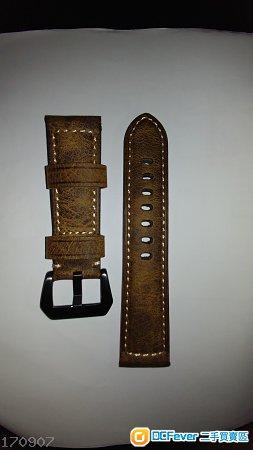 全新爆裂紋24mm panerai代用錶帶