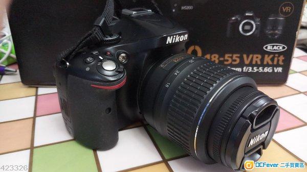 NIKON D5200 連 18-55 VR KIT 95% 新, 冇塵冇發毛