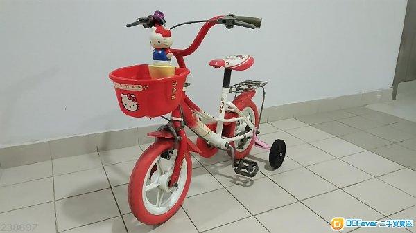 二手Hello Kitty - 兒童單車 (連輔助轆)