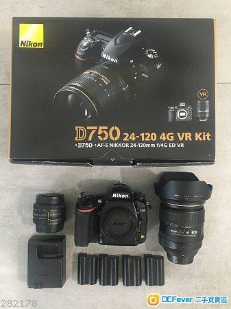 Nikon D750 DSLR Camera kit-set with Nikon AF-S NIKKOR 24-120mm