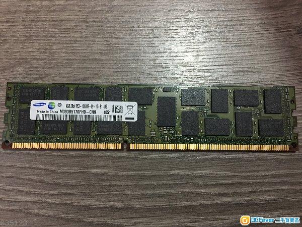Samsung/Hynix 4g ddr3 1333 PC3-10600R 伺服器ram 有多條