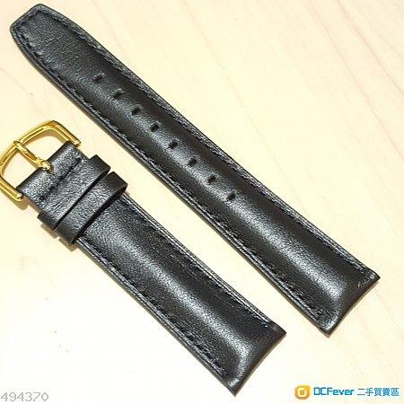 真皮錶帶 20mm全新黑色 合 Rolex Omega Tudor Seiko Citizen Tissot Hamilton Orient