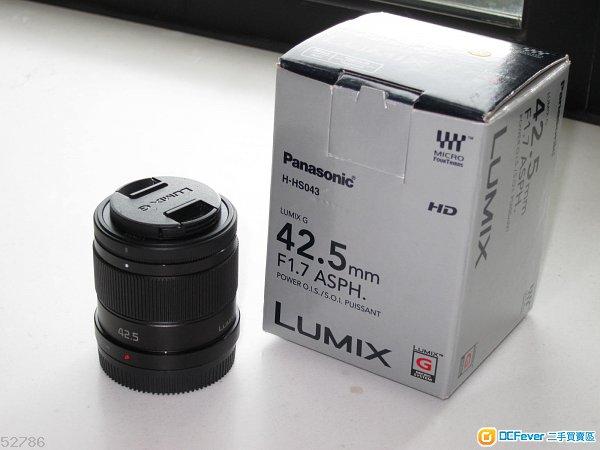 Panasonic Lumix 42.5mm f1.7 ASPH OIS M43 Olympus