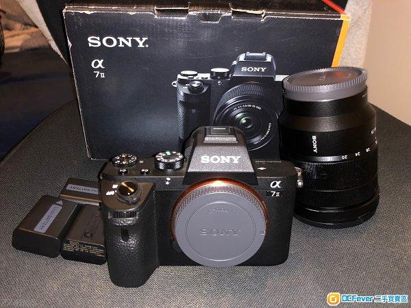 99%新Sony A7M2 淨機身(保養到9月) & 90%新SEL1635F4Z(有單已過保)