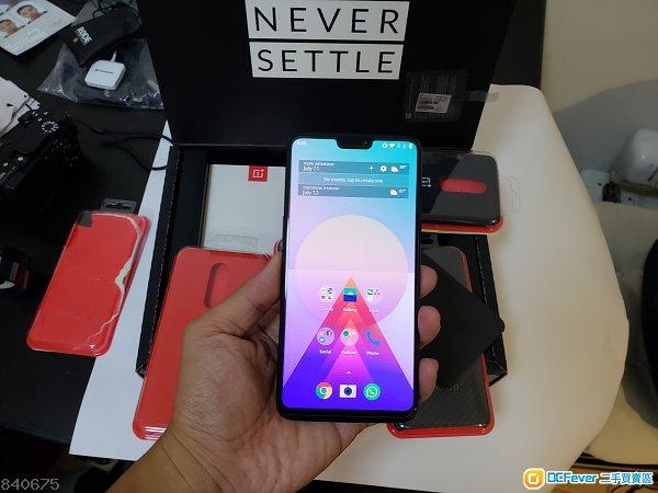 OnePlus 6 鏡黑 8+128 (送五個原裝保護殼)