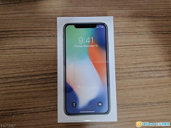 全新iPhone X 256GB 銀色 (全新行貨未開封)