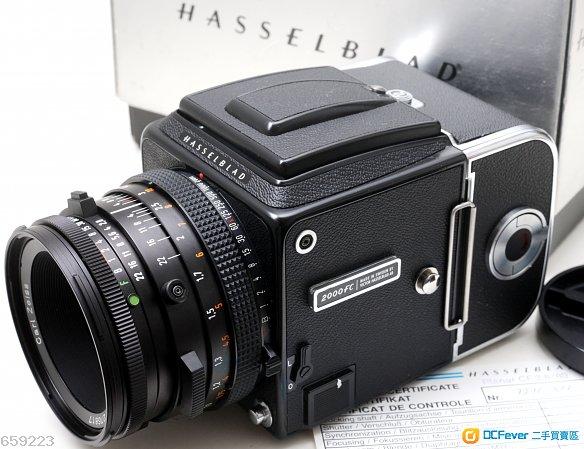 Hasselblad 2000FC(焦平/鏡間快門兩用)連A12背及Zeiss CF 80/2.8 Planar T* 罕有機鏡95新