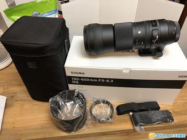100%新 Sigma 150-600mm F5-6.3 DG OS HSM Contemporary canon 鏡