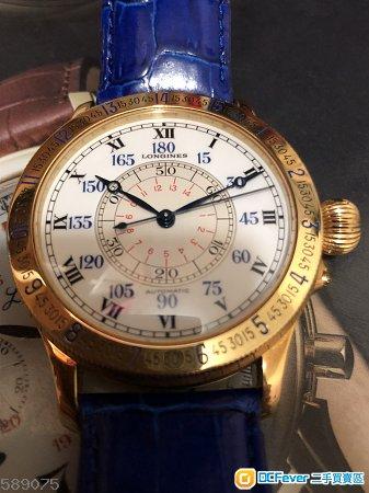 Longines 18k 47mm 黃金林白 not panerai Rolex iwc