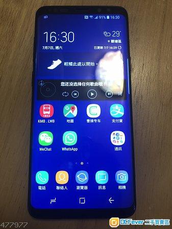 港行黑色Samsung s9+ plus 6+256g 雙卡雙待全網通, 99new