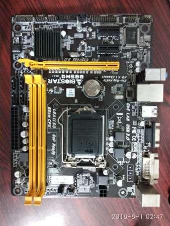二手 BIOSTAR B85MG B85 DDR3 USB3 LGA1150 MATX MB