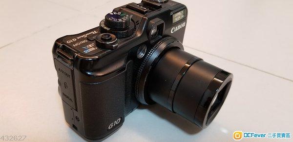 古董相機 Canon Powershot G10 (壞) / 原廠Charger & 電池 (work)