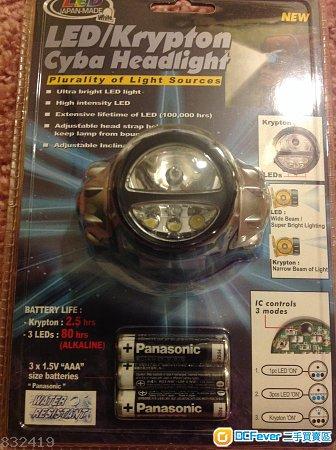 Krypton headlight