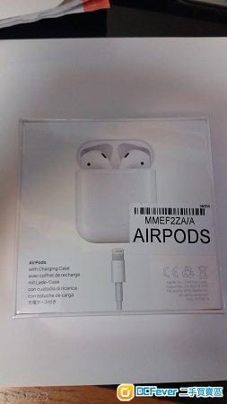 全新未開iphone篮牙耳機 Airpods MMEF2ZA/A