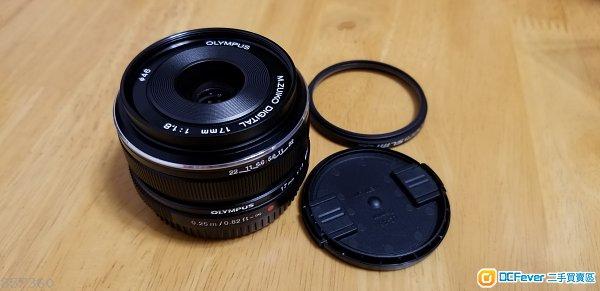 (拆售, 不足半個月, 不連單) Olympus M.Zuiko Digital 17mm F1.8