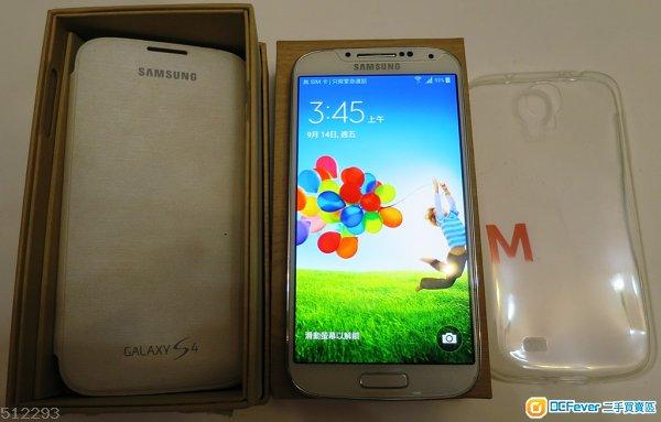 95%新 Samsung S4 I9505 白色 4G 行貨  原裝新電池