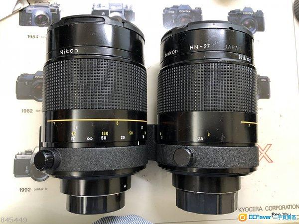 用家精選 : Nikon 500mm f/8 Reflex Lens ( 橙圈 ) 2 Pcs @$2680. UP