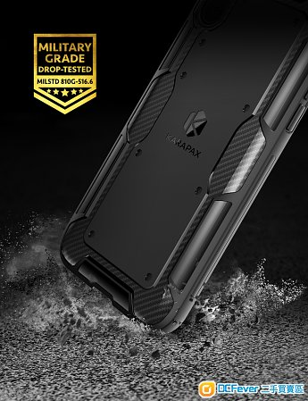全新 Apple iPhone X Shield Case 殼 Carbon Fibre 碳纖 USA Xs Max XR 保護 防跌 防撞
