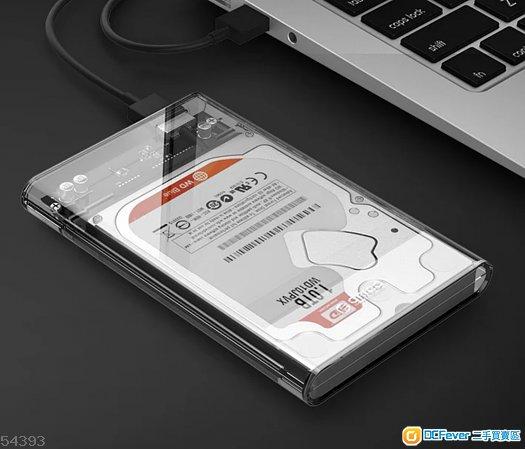 全新透明2.5吋移動硬盤盒USB3.0