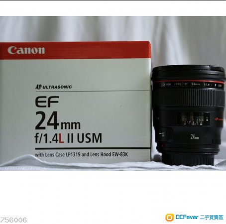 出售98%New Canon 24mm F1.4L光圈鏡頭 新淨