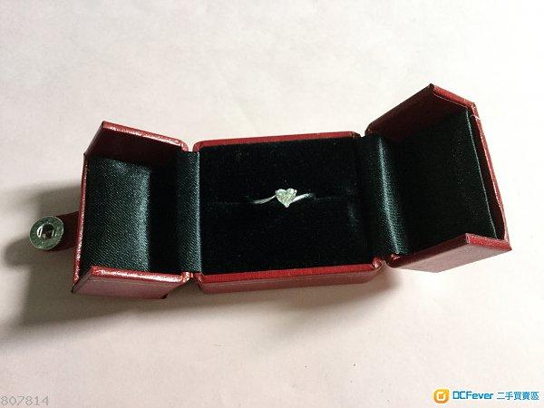 Mabelle 單粒心型34份18K鑽石介指 戒指