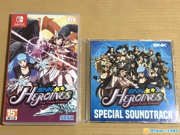Nintendo switch 99%新 SNK heroines 連音樂CD