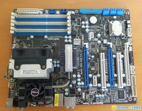 (高頻X58組合)華擎X58 Extreme 3底板連X5570 2.93GHz 4核8線程CPU (已MOD上3.6GHz)