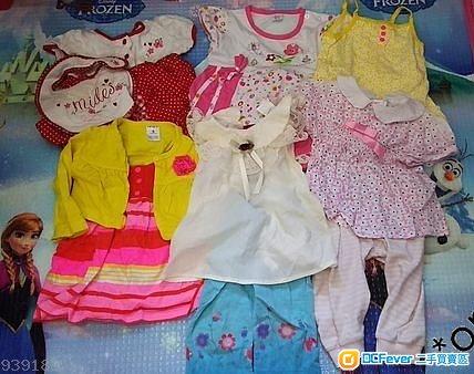 嬰幼兒 bb 衫 褲 裙 外套 口水肩 女嬰 女孩 6-9個月大 合共11件