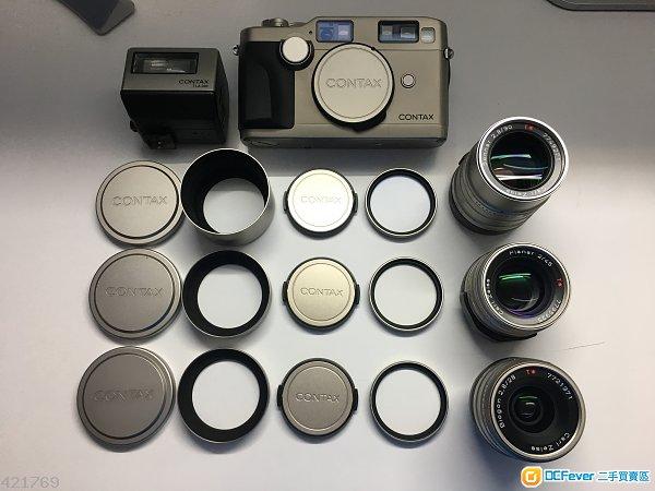 90%new Contax G2 + Mint 28mm 45mm 90mm Flash + Big CONTAX Case