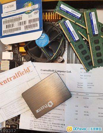 Inter i74790k,Adata Premier 32 Gb ,Gigabyte z97-D3H, Plextor 256GB SSD
