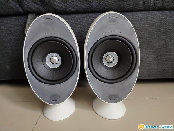 KEF HTS3001SE speakers 白色一對。
