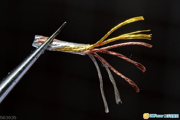 (新線降臨!)8股冷凍單晶金銀銅升級耳機線 fender ak jh sony shure fitear campfire fiio jv